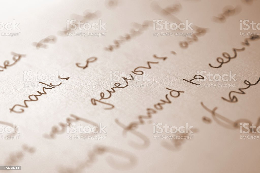 handwriting series royalty-free stock photo