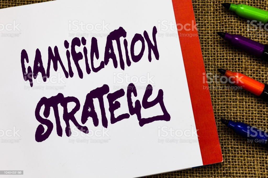 Foto De Texto Manuscrito Gamification Estratégia Conceito