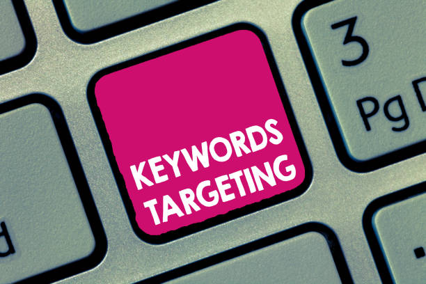 Handwriting text Keywords Targeting. Concept meaning Use Relevant Words to get High Ranking in Search Engines – zdjęcie