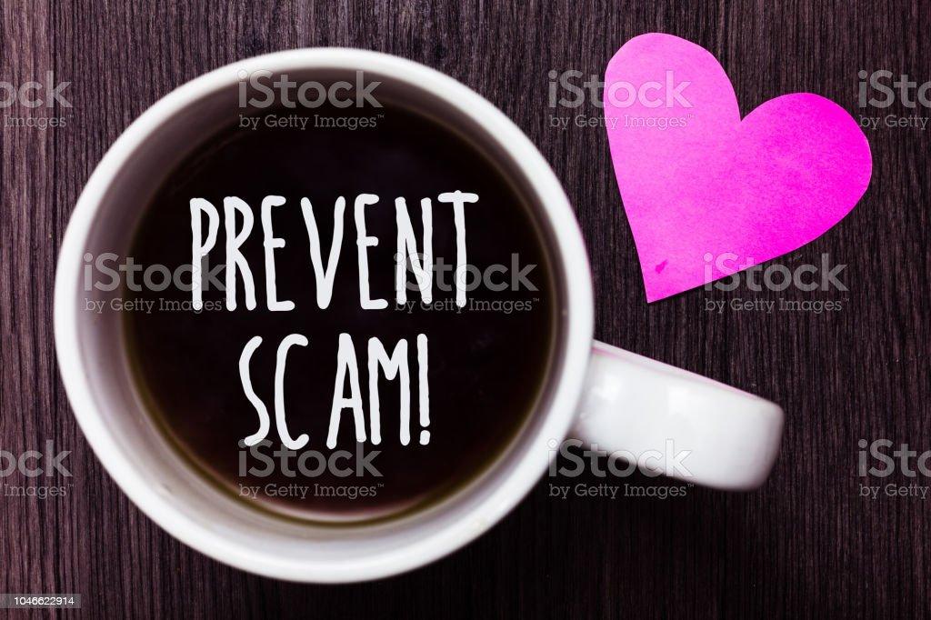 Foto De Texto Manuscrito Impedir Fraude Chamada Motivacional