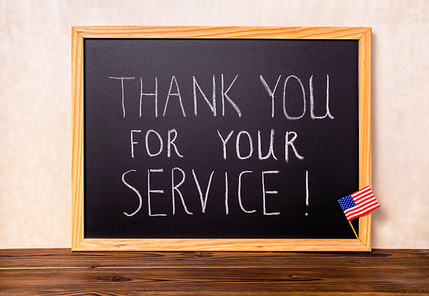 handwriting text thank you for your service with flag - thank you background stok fotoğraflar ve resimler
