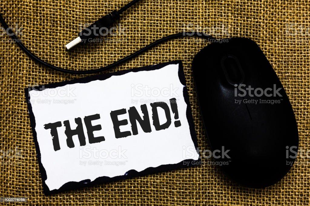 Foto De Texto De Letra The End Call Motivacional Conceito Ou