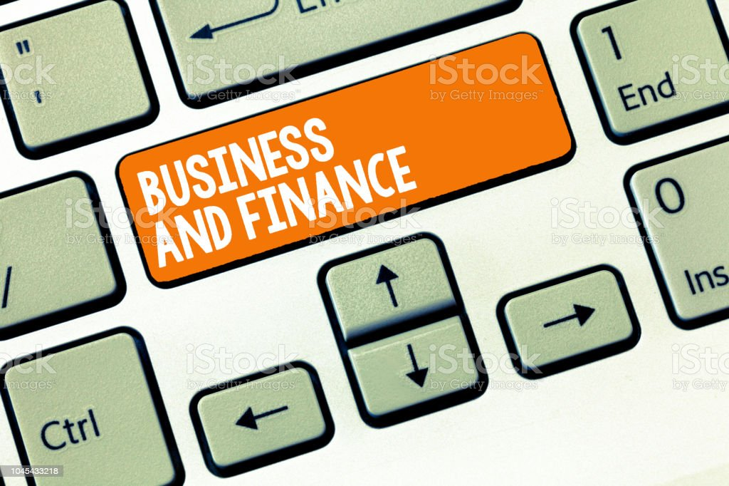 Handwriting text writing Business And Finance. Concept meaning Management of Asset Money and Fund of a company stock photo