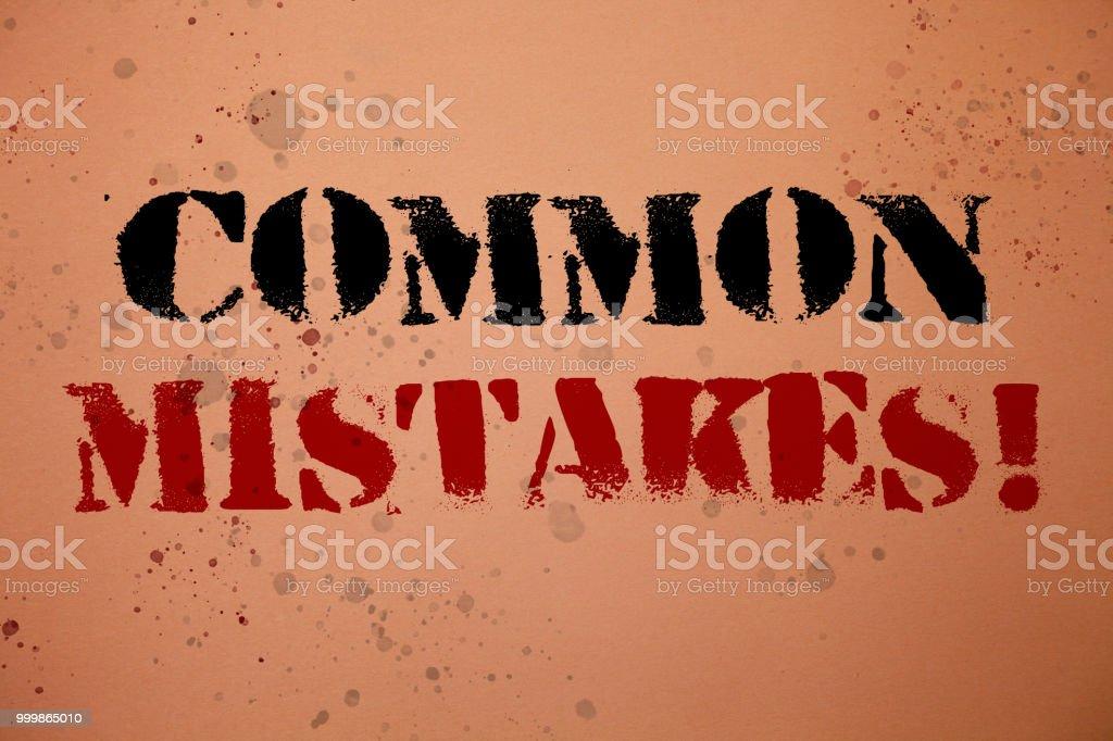 Foto De Texto De Caligrafia Escrever Comum Erros Chamam