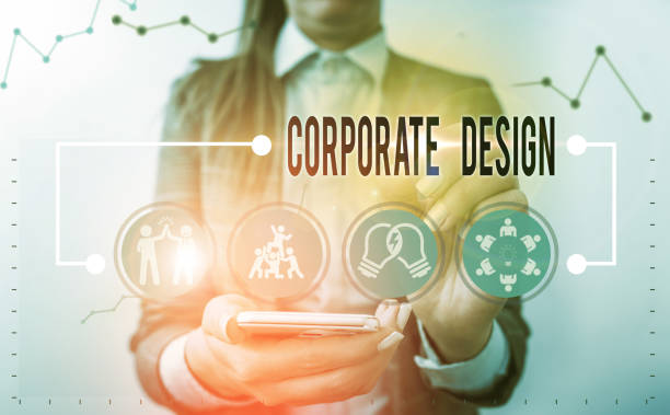 Handwriting text writing Corporate Design. Concept meaning official graphical design of the logo and name of a company. stock photo