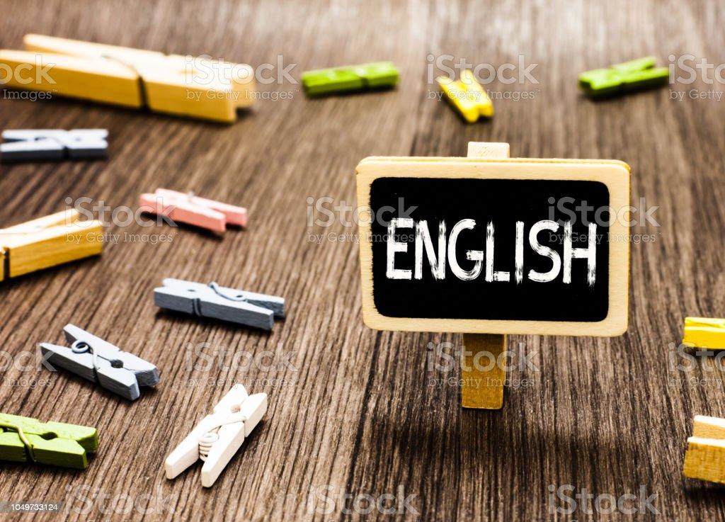Texto De Escritura A Mano Escritura A Inglés Concepto