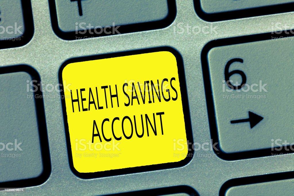 Handwriting Text Writing Health Savings Account Concept ...