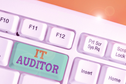 istock Handwriting text writing It Auditor. Concept meaning demonstrating authorized to review and verify the accuracy of the system. 1218284775