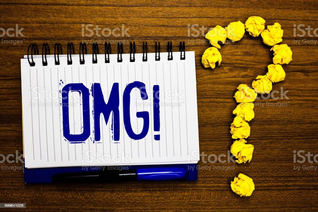 Foto De Texto De Caligrafia Escrever Omg Chamam Motivacional