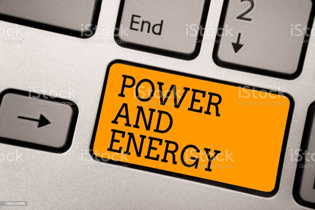 Handwriting Text Writing Power And Energy Concept Meaning