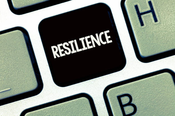 handwriting text writing resilience. concept meaning capacity to recover quickly from difficulties persistence - resilience concept stock photos and pictures