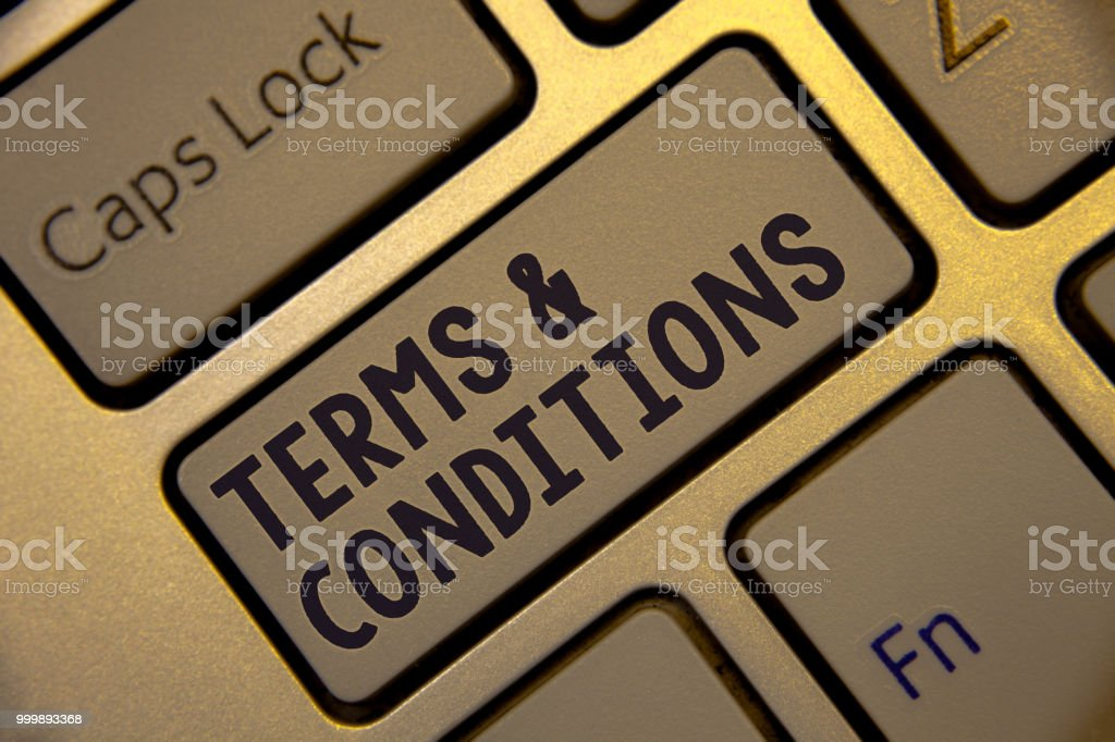 Handwriting Text Writing Terms And Conditions Concept Meaning Legal