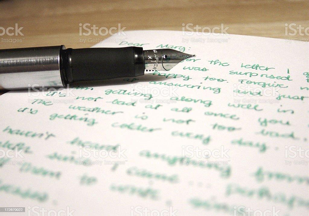 handwritten letter royalty-free stock photo