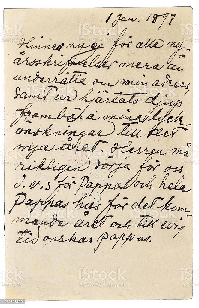 Handwritten letter stock photo