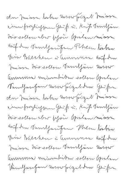 handschriftschreiben kalligraphie textur hintergrund - scribble stock-fotos und bilder