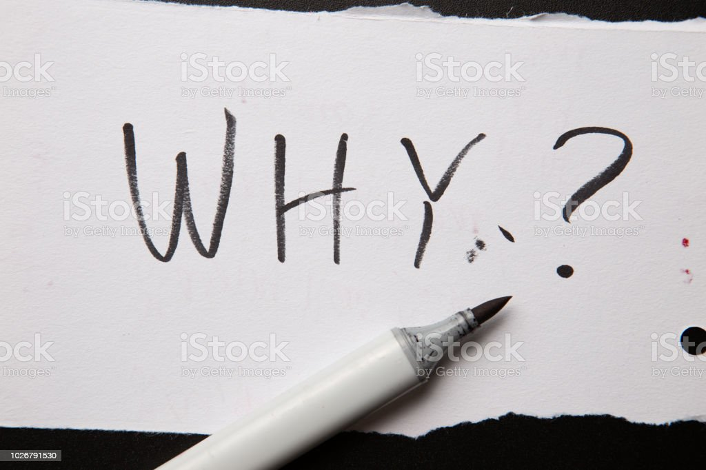 Handwritten Text Why As Question Written On White Paper With