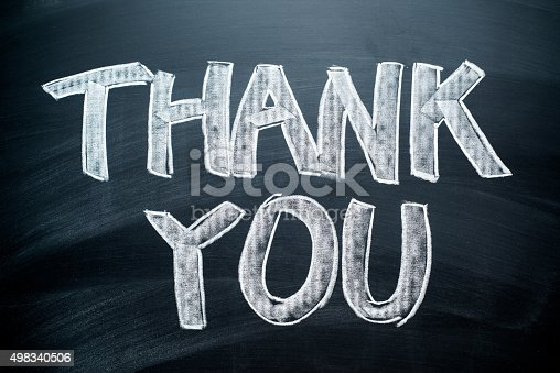 istock Handwritten Thank You 498340506