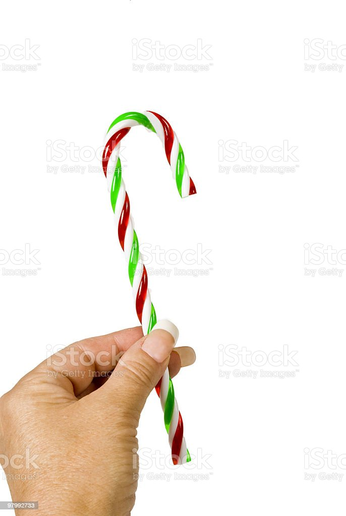 Handy Candy Cane royalty free stockfoto