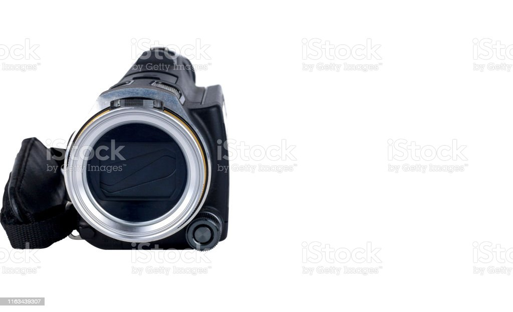 Handycam or handy cam isolated on white background. Save with...