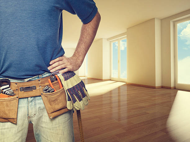 handyman at home - tool belt stock photos and pictures
