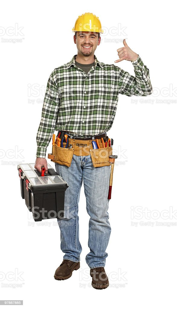 handyman contact us royalty-free stock photo