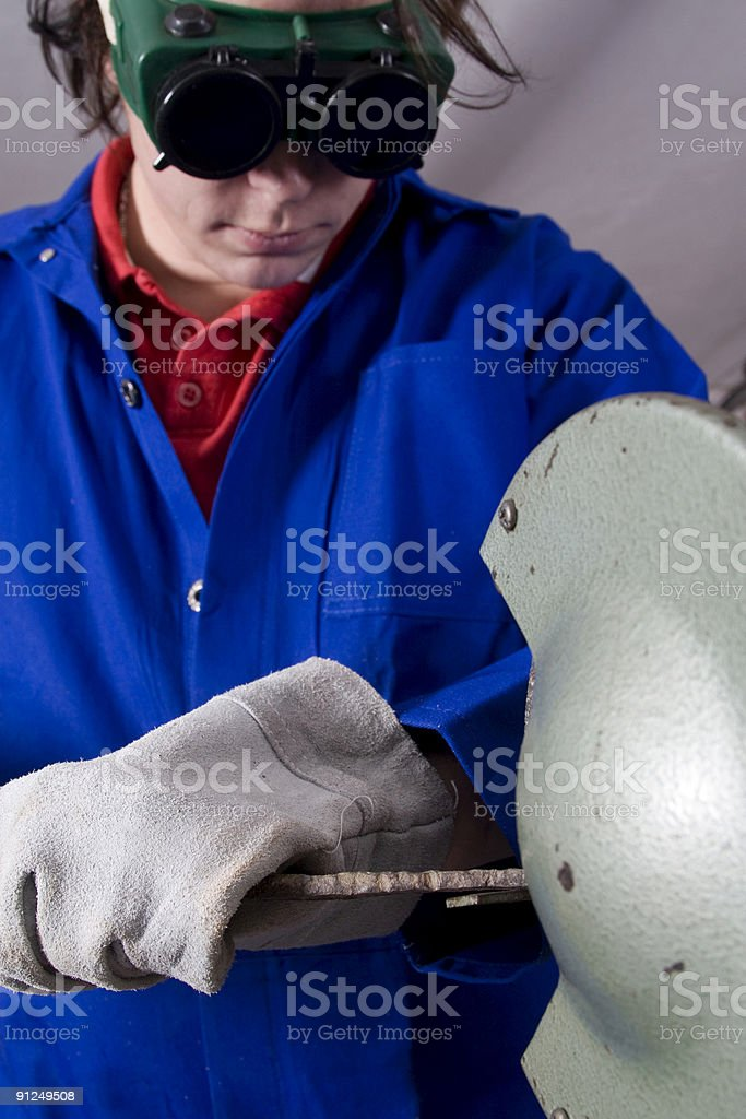 Handyman grinder royalty-free stock photo