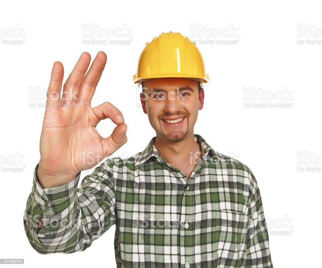 handyman poitive thinking royalty-free stock photo