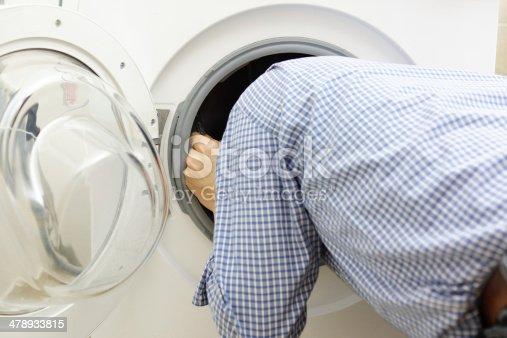 487597124 istock photo handyman repairing a washing machine 478933815