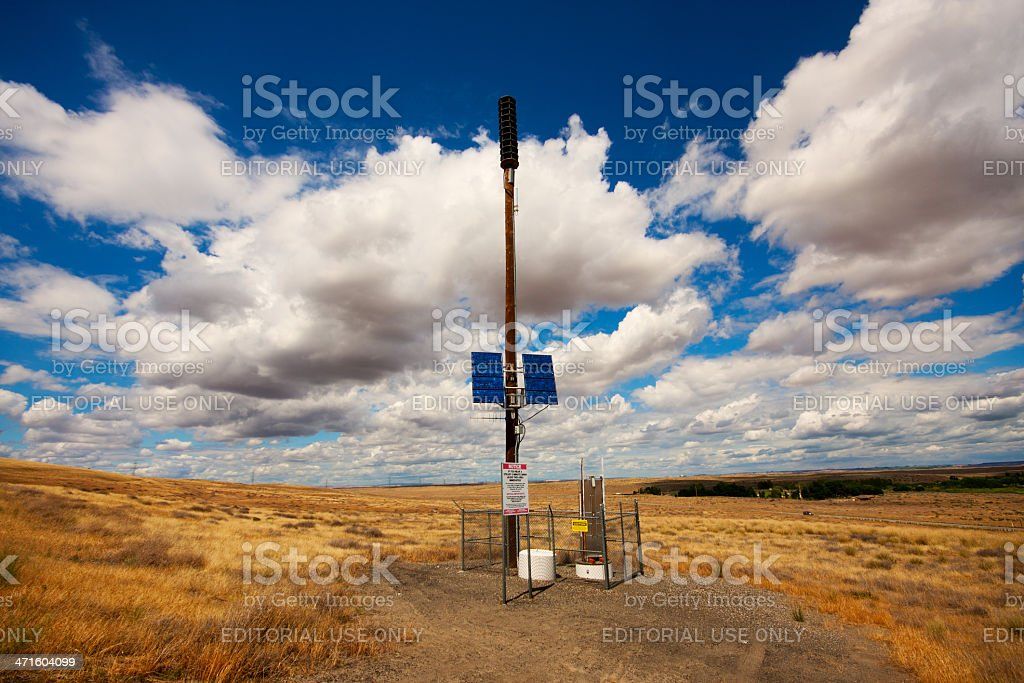 Hanford Nuclear Reservation Warning Siren Station royalty-free stock photo