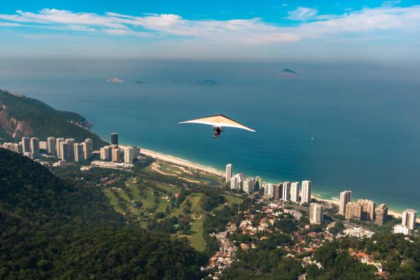 Hang Gliding in Rio de Janeiro, Brazil stock photo
