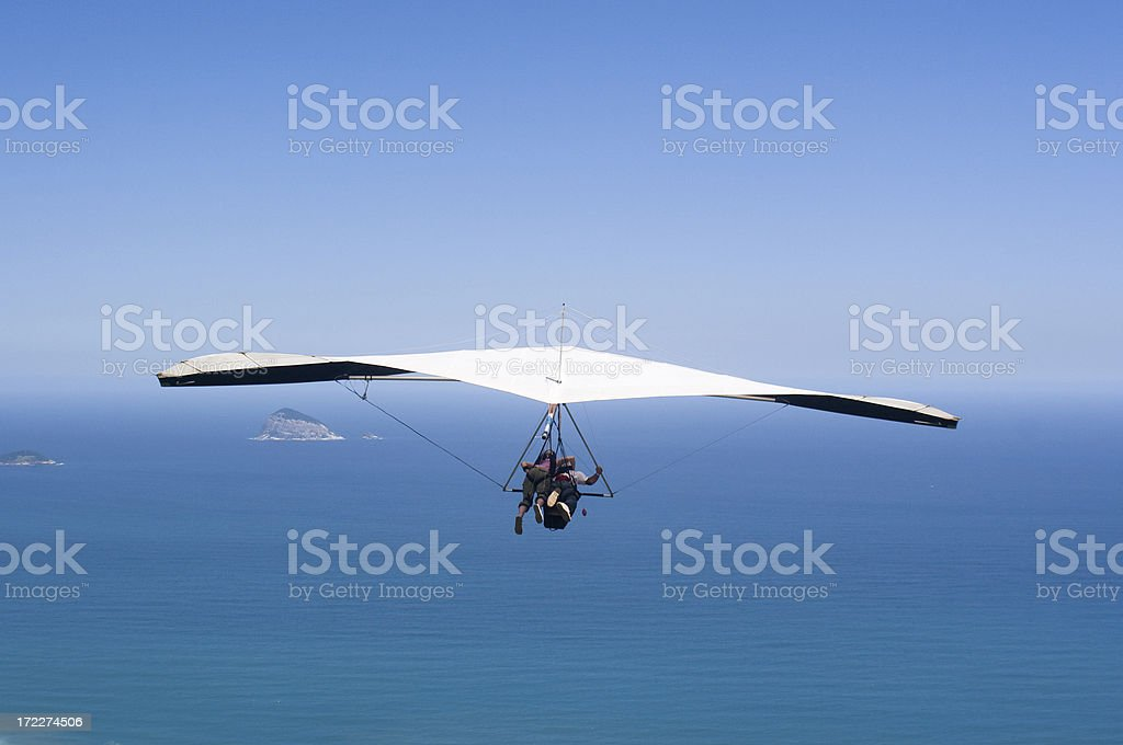 Hang Gliding Over Ocean. Sports. Hang glider flying free over ocean.See a nice variety of Brazilian images in these two lightboxes: Adventure Stock Photo