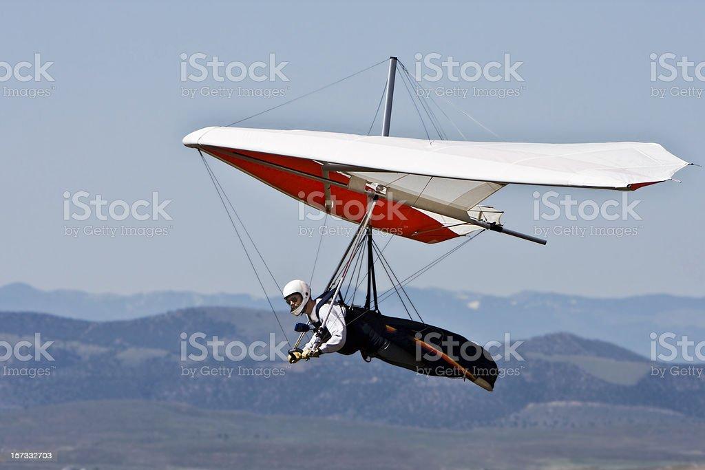 Hang Gliding para cima. - foto de acervo