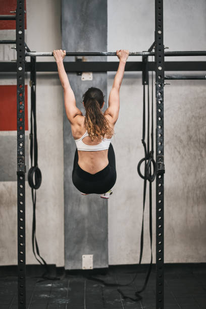 Hang on and keep going and achieve your fitness goal stock photo