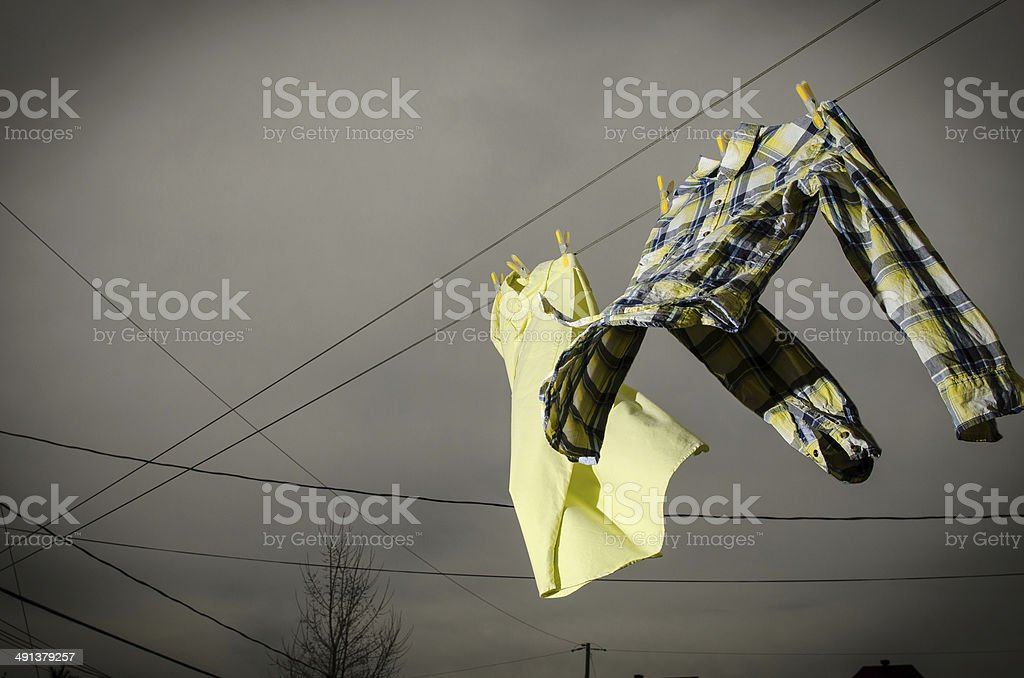 Hang to Dry stock photo