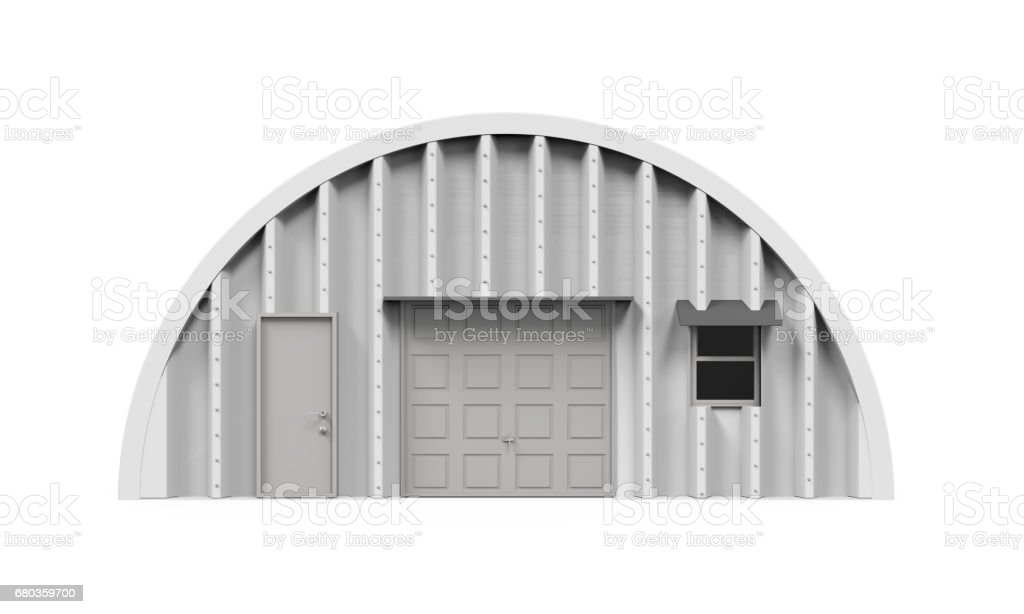 Hangar Building Isolated stock photo