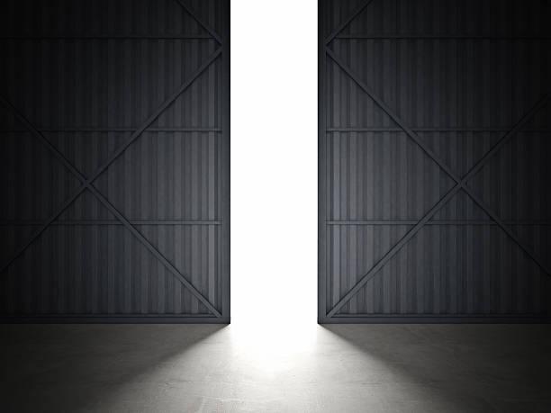 hangar door 3d image of huge hangar doors airplane hangar stock pictures, royalty-free photos & images