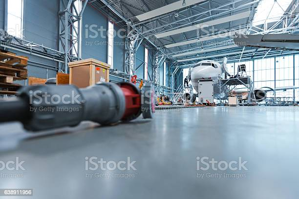 Hangar Low Angle View Stock Photo - Download Image Now