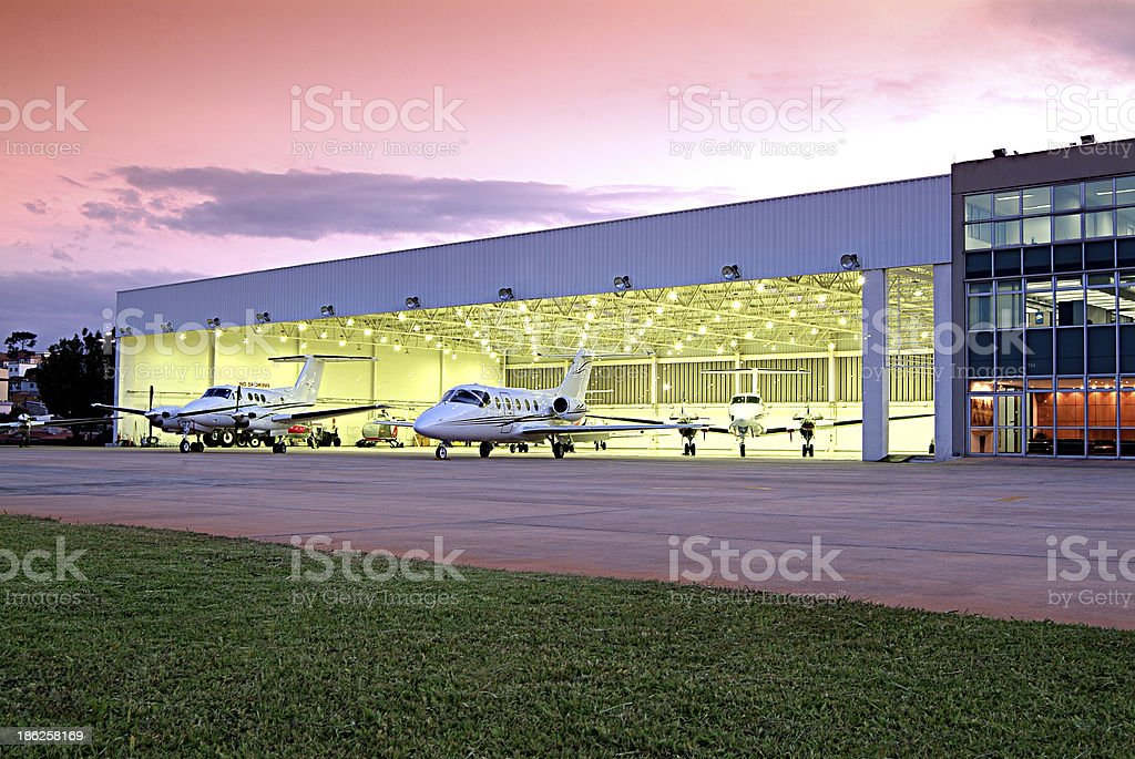 hangar stock photo