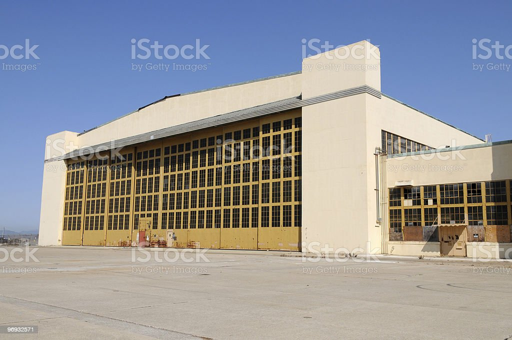 Hangar royalty-free stock photo