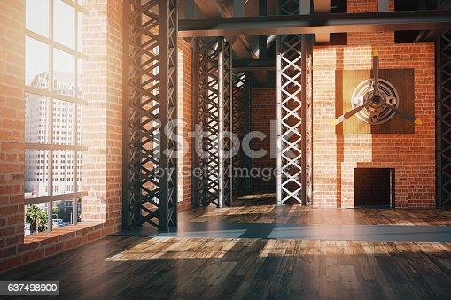 istock Hangar style interior 637498900
