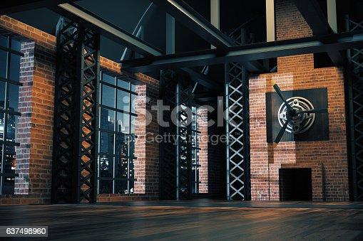 istock Hangar style interior 637498960