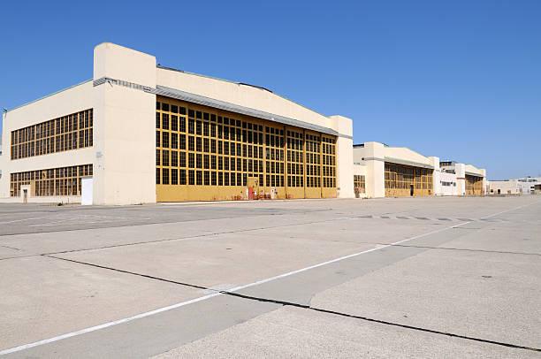 Hangars stock photo