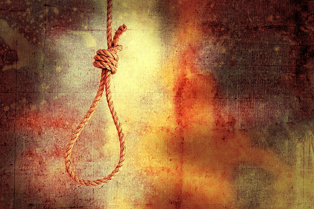 hanged - noose stock photos and pictures