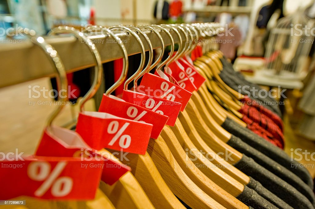 Hanger for clothes stock photo