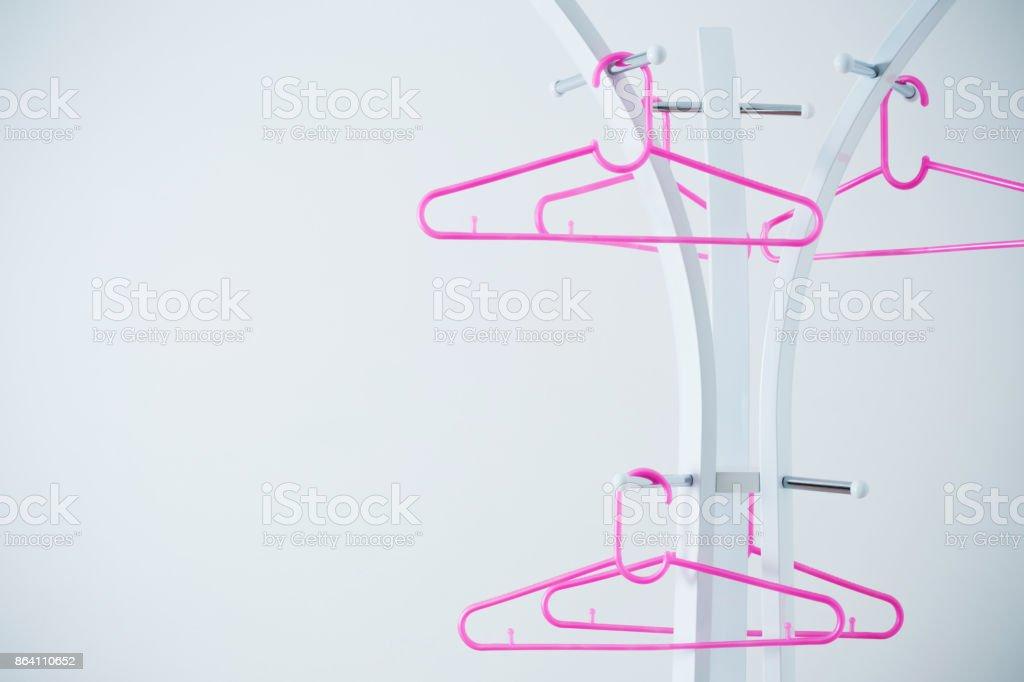 hanger on white background royalty-free stock photo