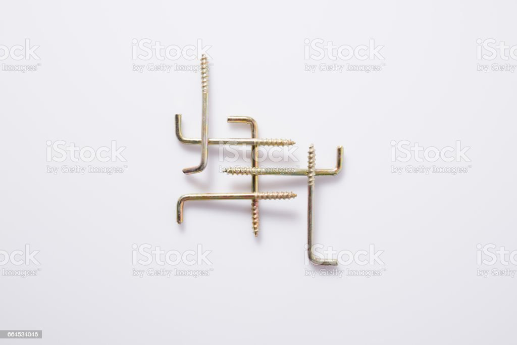 Hanger screw royalty-free stock photo