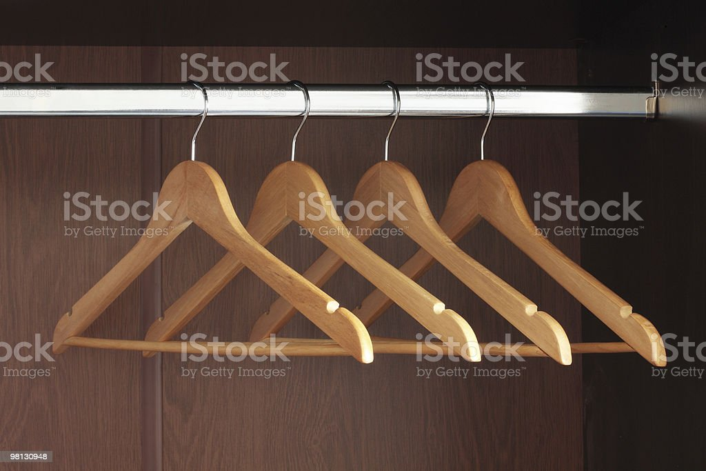 Hangers royalty-free stock photo