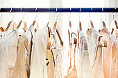 istock Hangers with clothes 184640309