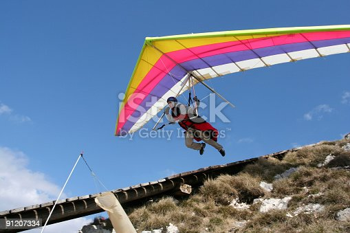 Hangglider in action