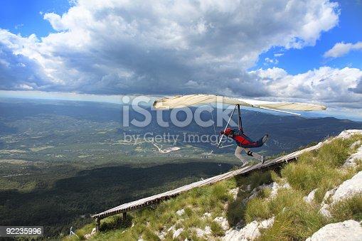 Hangglider in action-Ucka mountain-Croatia